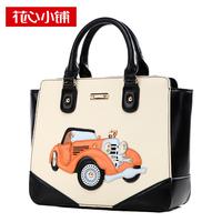Fashion patchwork 2014 cartoon car portable one shoulder cross-body fashion women's handbag Designer women messenger bag Hot