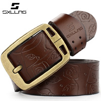 2015 Top Fashion Adult Belts for Sxllns New Fashion Brand Genuine Leather Belts for Women Pin Buckle Vintage Strap free Shipping
