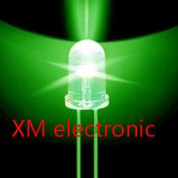 Free shipping 1000pcs 5mm led Green light bulbs / 5MM Green Colour LED emitting diode F5mm Green LED
