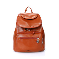 2014 Korea edition backpack women simple pure color back pack preppy style mochilas school bags for teenagers travel bags PU Bag