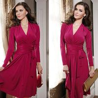 2014 fall new European and American fashion dress ladies evening dress bandage dress women dress XL