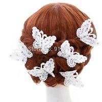 bride butterfly hair clips women hair pin  bride wedding hair accessory hair ornament