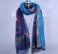Free Shipping 2014 Fashion 90*180cm Muslim Viscose Paisley Shawls Scarfs women scarf