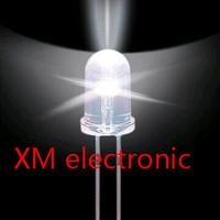 Free shipping 1000pcs 5mm led white light bulbs / 5MM White Colour LED emitting diode F5mm White LED