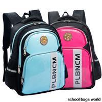 NEW Large Orthopedic Children School Bags Girl Boy Brand Nylon+PU Children Backpack Primary Grade1-6 Student Portfolios Mochilas