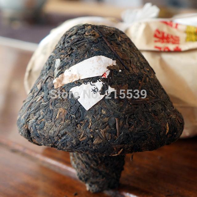 GRANDNESS Bao Yan Jin Cha 2007 yr Xiaguan Toucha Group Raw Sheng Mushroom Tuo Cha