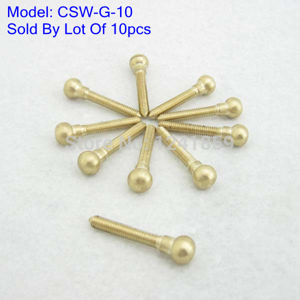 10pcs Brass Solid Contact Screw For Tattoo Machine Gun Supply CSW-G#(China (Mainland))