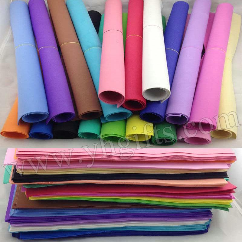 153PCS/LOT.1mm 17 color Foam sheets,Sponge paper,Punch foam,Foam crafts.Craft material,School projects.Foam flower.Wholesale(China (Mainland))