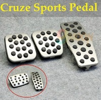High Quality Chevrolet Cruze MT/AT Stainless Steel Manual Clutch Throttle Brakes Foot Pedal For Cruze Auto Accessories