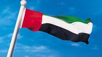Free Shipping  NEW 100% 100D Polyester Fly  Printed 96x144 cm (5x3)ft Large United Arab Emirates UAE National Flag for Mixed