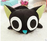 Freeshipping40 ROM. Little black doll cat narrowing doll doll cartoon plush toys small black cat A birthday present