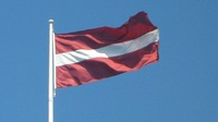 Free Shipping  NEW 100% 100D Polyester Fly  Printed 96x144 cm (5x3)ft Large Latvia National Flag for Mixed