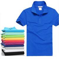 solid polo shirts summer men polo shirts short sleeve turn down collar casual Men's Clothing>Tops & Tees>Polo Shirts