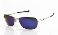 New Designer Sunglasses Men's/Women's Brand Metal C-wire OO4046 Silver Sunglass Blue Iridium Blue Logo Polarized Box