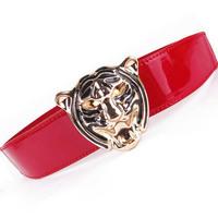 New European and American style fashion tiger head waist belt