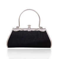 Promotion ! 2014 Messenger Bag Fashion Women Purses And Handbags Women Gold Designer Bags Wedding Party Clutch Black Bag