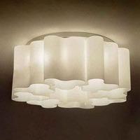 6 light white modern IKEA corridor bed room glass ceiling lamp light