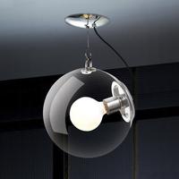 Dia 250mm Clear LED modern IKEA bedroom bar glass ceiling lamp light