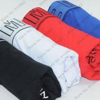 4 pcs/lot Sexy Classic Men Underwear Cotton Best quality brand Boxers Shorts cueca Mix color Black White Blue Red