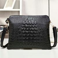 Promotion Women Leather Handbags New Arrival Genuine Leather Crocodile Women Handbag Shoulder Bag Messenger Bag Clutch Handbag