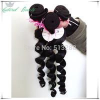 5A Ali Moda Hair Malaysian Virgin Hair 3pcs lot Unprocessed Malaysian Loose Wave Human Hair Fast Free Shipping Natural Color 1b