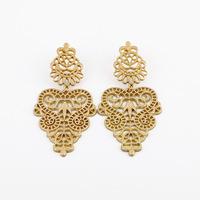 Gold Earrings For Women Brincos Grandes Ear Cuff Earring NWT 82mm