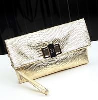 2014 Famous Brand Women Clutch Bag Magazine Style Snake Skin Pattern Clutch Purse Women Evening Bags Women Small Shoulder Bags