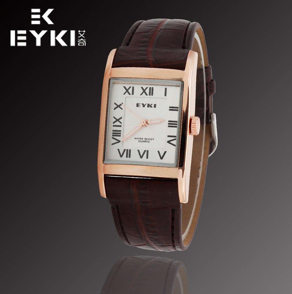 Brand New E-Times EYKI Women's Casual Style Quartz Watches,Women Genuine Leather Strap Wristwatches,12-month Guarantee(China (Mainland))