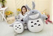 Totoro luxo Popular varejo adorável TOTORO plush brinquedos de presente brinquedos 80 cm longo(China (Mainland))