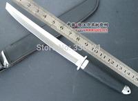 2014 New! Tools! Large Mitsumi Katana (leather sheath) hunting knife camping knife 58HRC fixed HK Free Shipping