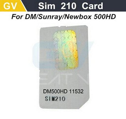 1pc SIM2.10 Card for DM 500HD sunray 500HD DM 500 hd newdvb 500 hd DVB DVB S2 cable receiver 500s enigma2 satellite receiver(China (Mainland))