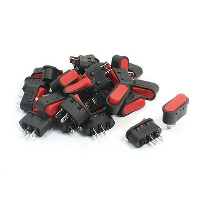 Кулисный переключатель 30Pcs 2Pin SPST 6A AC250V 10 125VAC 10pcs 2pin spst locking snap in boat rocker switch 6a ac250v 10a 125vac kcd1 106