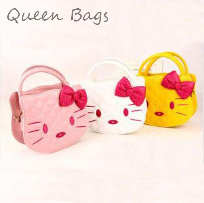 Famous brand 2014 Kids girl fashion cartoon Handbag Kitty Candy color shoulder Bag Children party princess messenger Bag S3836(China (Mainland))