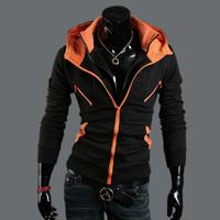 Free Shipping 2014/7/3 New Arrival Autumn Winter Korea Style Slim Cotton Casual Men's Hoody Size M/L/XL/XXL#524