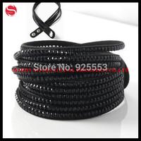 Free shipping cheap multi-layer velvet bracelet crystal rhinestone charm Slake wrap bracelet bangle multi Color