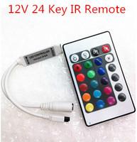 Wholesale 50PCS/Lot 12V 24 Key Mini LED IR Remote Controller For SMD 3528 & 5050 RGB Strip Light YSL-IR24M Free shipping