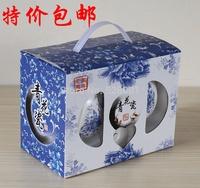Ceramic bowl set bowl bone china gift tableware 2 bowl 2 spoonfuls blue and white ceramic 4 series+Free shipping