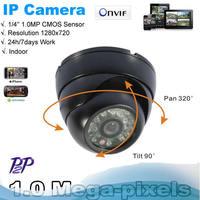 Hot sale! 1.0Megapixel HD Onvif IR-Cut P2P Function Security Network IP Dome camera pan tilt