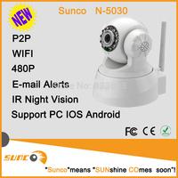 SUNCO White 480p Wireless IP Security CCTV Camera Night Vision IR PTZ Camera Two-way audio Pan/Tilt Video Cameras System