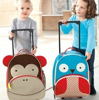 41cm * 32cm * 14cm Children's Zoo  Large Trolley Backpack Luggage Free Shipping