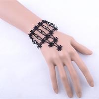 Black pulseras costume jewelry bracelets women hand bracelets wedding return gift fashion jewelry free shipping