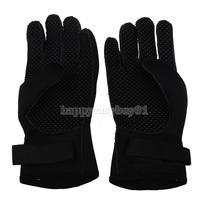 Winter Diving Gloves Swimming Hand Wear Antiskid SCR Neoprene Black L  H1E1