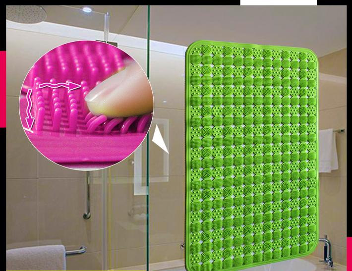 slip-resistant PVC bath mats for bathroom toilet and kitchen thick bathroom carpet large size 45cm*45cm color randomly ZHY089(China (Mainland))