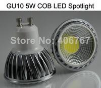 Wholesale Free Shipping High Quality LED Spotlight 5W COB LED Bulbs GU10 LED Lamp 500PCS/lot