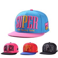 street fashion simple adult women men letter super wing hats caps visor 1pcs AH007R