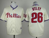 2014 Philadelphia Phillies Mens Baseball Jerseys 26 Chase Utley Blank Jersey,Mix Order,100% Stitched Logo