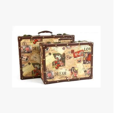 Compra maleta vintage online al por mayor de china for Maletas vintage decoracion