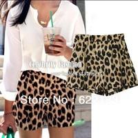 Celebrity Style Leopard Animal Print Loose Fit Casual Shorts Hotpants Women Pants S M L 12027