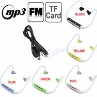 Wireless Sport Earphones Headphones Music MP3 Player TF SD Card FM Radio Headset Free Shipping