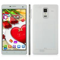 "like lenovo p780 phone style 5.5"" ips Screen quad core 1GB RAM 4GB ROM GPS 3G android 4.4 smart phone flip cover Russian spanish"